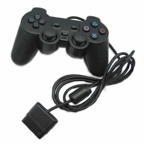 Проводной контроллер DualShock 2 (черный, оригинал)