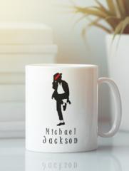 Кружка с изображением Майкла  Джексона (Michael Jackson) белая 005