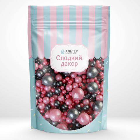 Воздушный рис Альтер в шоколадной глазури  Розовый/черный 100 гр