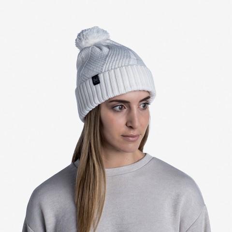 Шапка вязаная с флисом Buff Hat Knitted Polar Raisa White фото 2