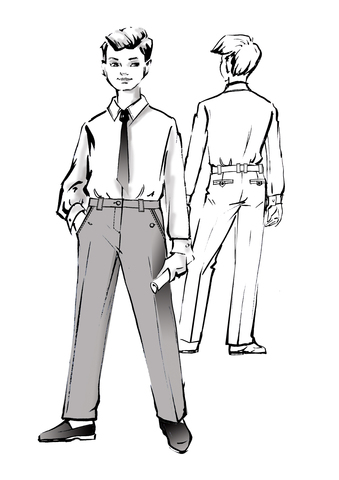 Выкройка школьных классических брюк для мальчика