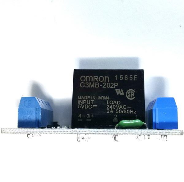 Твердотельный релейный модуль 2 канала 5В (LOW)