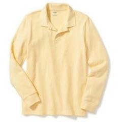 OLD NAVY Поло с длинным рукавом бледно-желтый МВ111