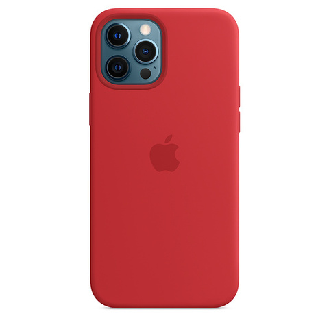Чехол IP12 PRO MAX Silicone Case Red