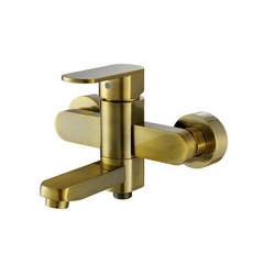 Смеситель для ванны и душа Kaiser (Кайзер) Sonat 34022-1 Bronze однорычажный с лейкой и шлангом, цвет - бронза