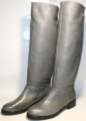Сапоги женские демисезонные серые кожаные  EL Passo
