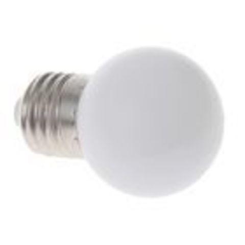 Светодиодная лампа - шарик, 1Вт, Е27, мульти. Разноцветная.