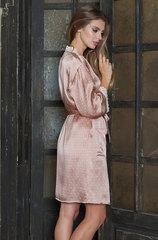 Шелковый халат с кружевом короткий