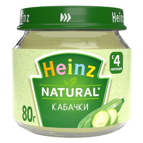 Пюре Heinz кабачок 80 гр. (4+ мес.)
