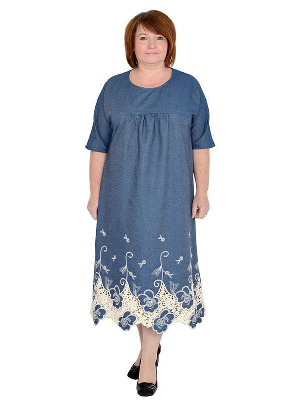 Платье Барышня джинс