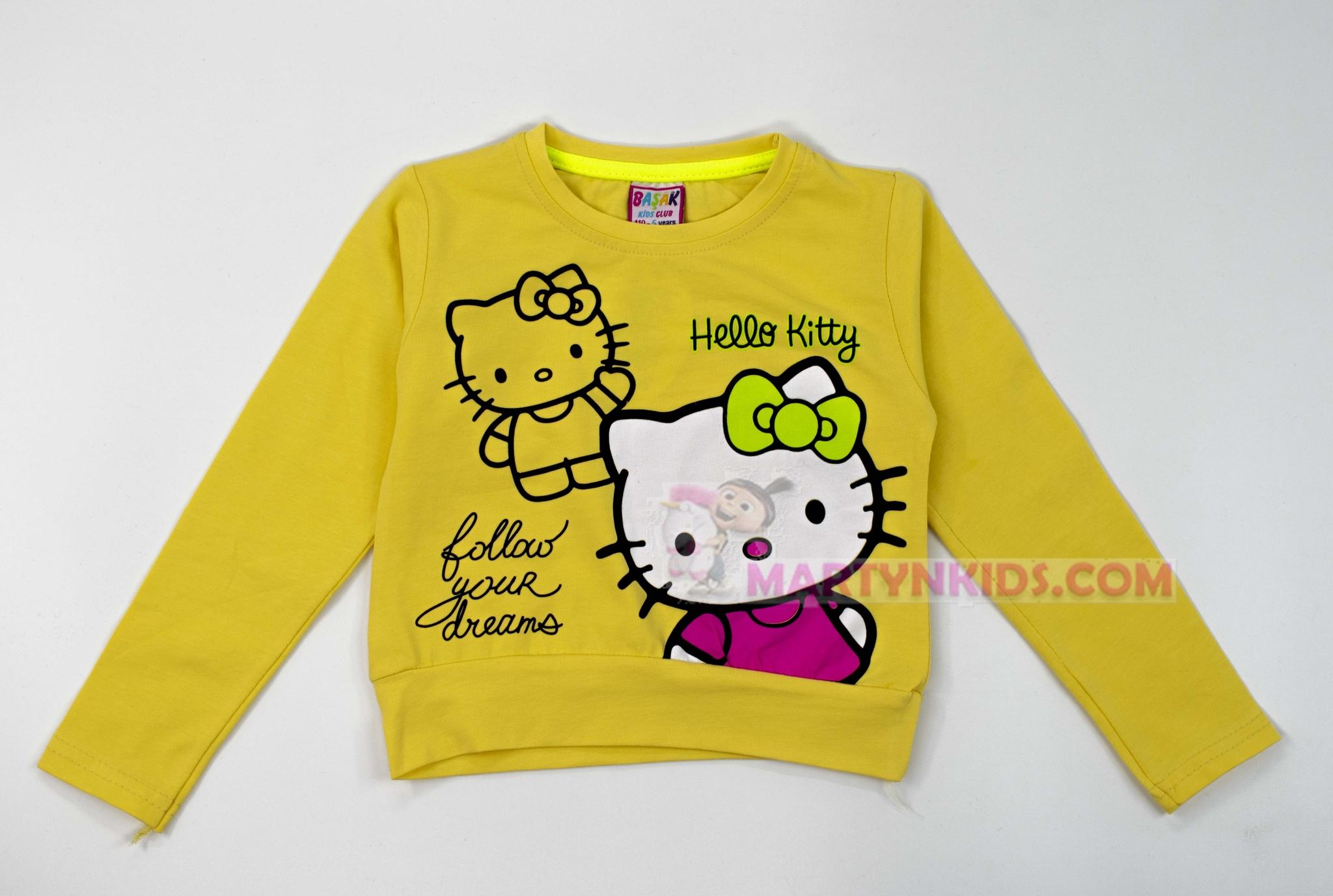3680 лонгслив Hello Kitty