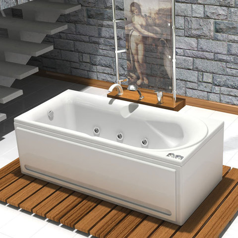 Ванна акриловая Aquatek Леда 170х80см. на каркасе и сливом-переливом