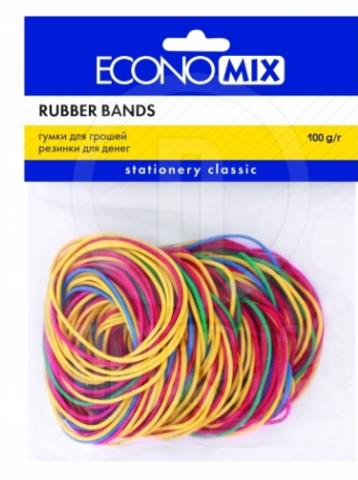 Резинки для денег Economix 100 г цветные