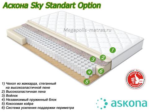 Матрас Аскрна Скай Стандарт Опшэн со слоями в Megapolis-matras.ru