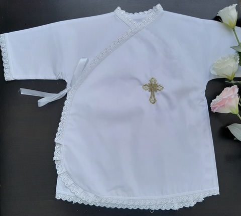 Крестильная рубашка (застежка сбоку)