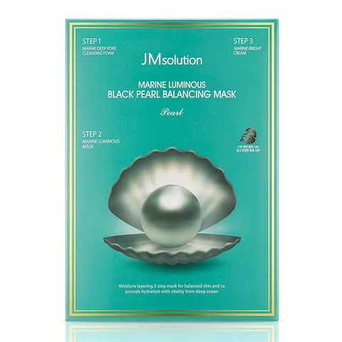 Трёхшаговый набор для сияния кожи JMsolution Marine Luminous Black Pearl Balancing Mask