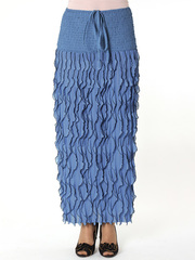 25294-6 юбка женская темно-голубая