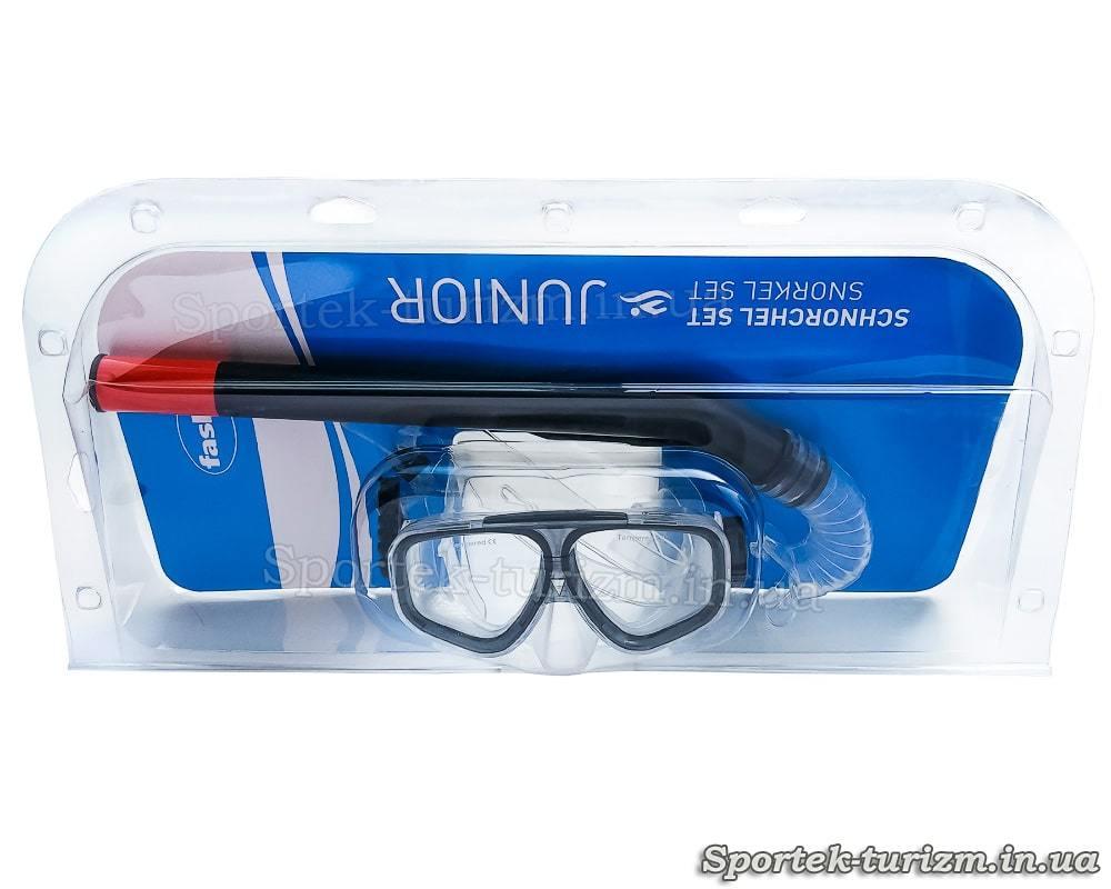 Комплект для подводного плавания Fashy Junior маска и трубка - упаковка