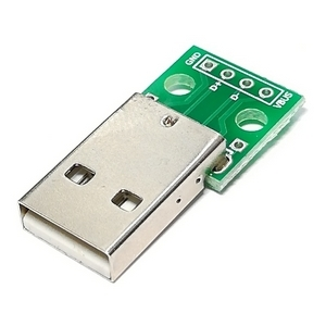 Адаптер USB 2.0 A вилка - DIP2.54-4P