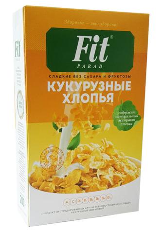 Фитпарад хлопья кукурузные 200 гр
