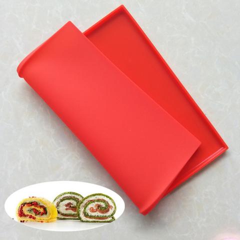 Коврик силиконовый для выпечки рулета с бортиками, 30,5*25,5см