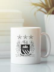Кружка с изображением FC Manchester City (ФК Манчестер Сити) белая 007