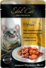 Пауч для кошек Edel Cat нежные кусочки в желе, курица, утка