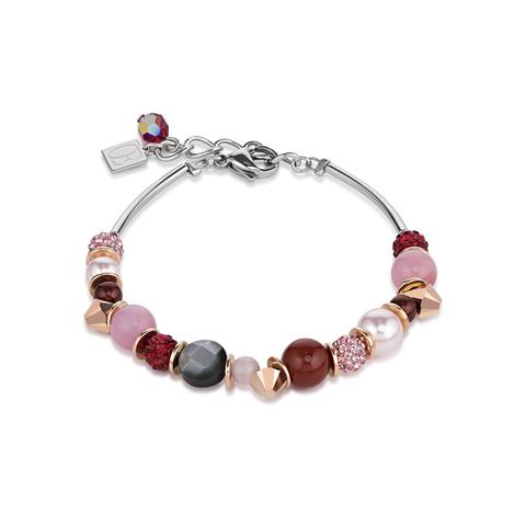 Браслет Coeur de Lion 4864/30-0319 цвет красный, розовый, бежевый