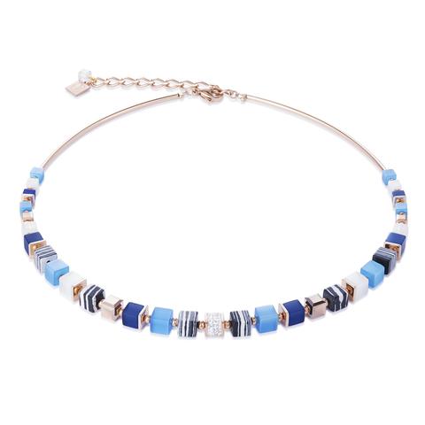 Колье Coeur de Lion 4963/10-0706 цвет синий, голубой, белый