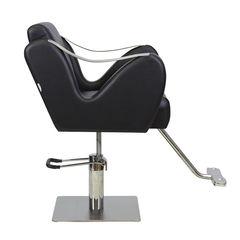 Парикмахерское кресло МД-365 гидравлика хром, квадрат хром со съемной подножкой