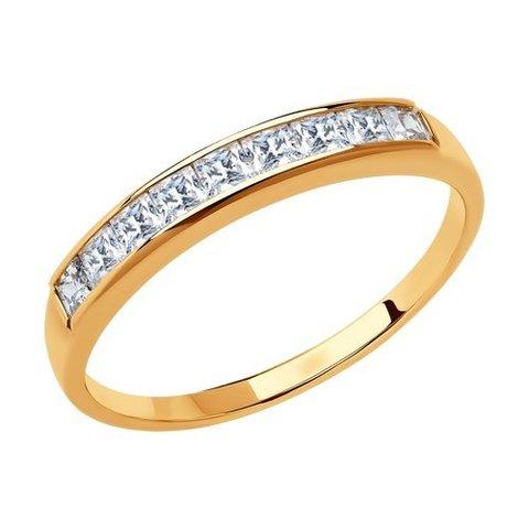 018436 - Кольцо-дорожка  из золота с фианитами