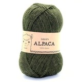 Пряжа Drops Alpaca 7895 темно-зеленый