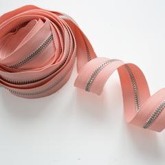 Молния металлическая №5, Нежный персик, цена за 10 см.