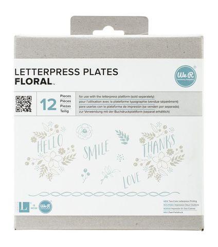 Формы для леттерпрессинга Lifestyle Letterpress Plates -  Floral