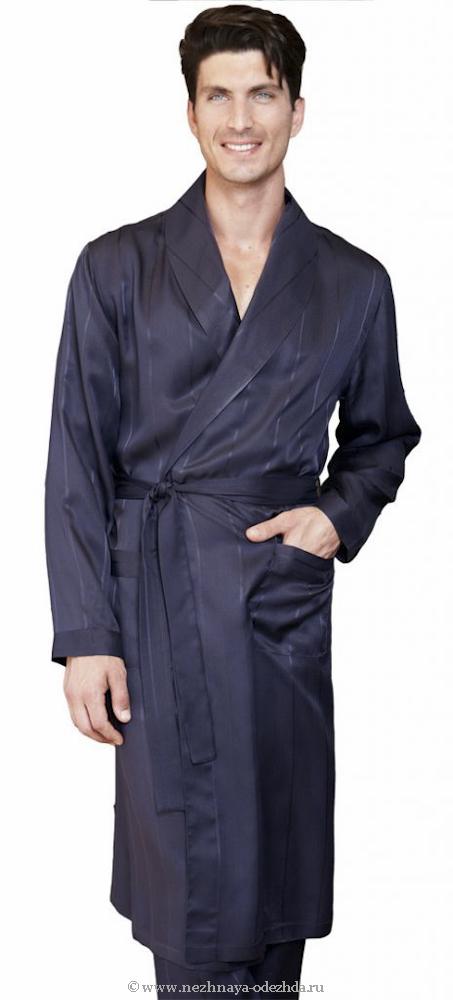 Шелковый мужской халат Twisi