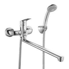 Смеситель для ванны Milardo Don DONSBLCM10 с длинным изливом и керамическим дивертором