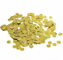 Конфетти Круги фольг золото 1 см, 20 гр, 1 уп.