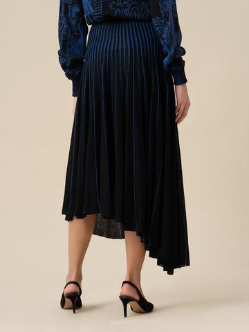 Женская юбка асимметричного кроя черного цвета из вискозы - фото 3