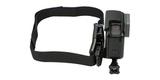 Крепление на вентилируемый шлем GoPro Vented Helmet Strap Mount (GVHS30) с камерой сбоку
