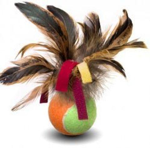 NEMS игрушка мяч с перьями 2 для кошек