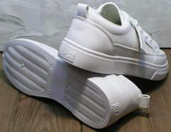 Модные женские кеды туфли с белой подошвой El Passo 820 All White.