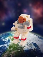 Конструктор Wisehawk Космонавт 120 деталей NO. b41 Astronaut Gift Series