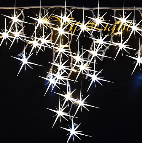 Каучуковая бахрома уличная фасадная полный флеш вся мерцает каждый светодиод 5 м на 0.7 м уличная