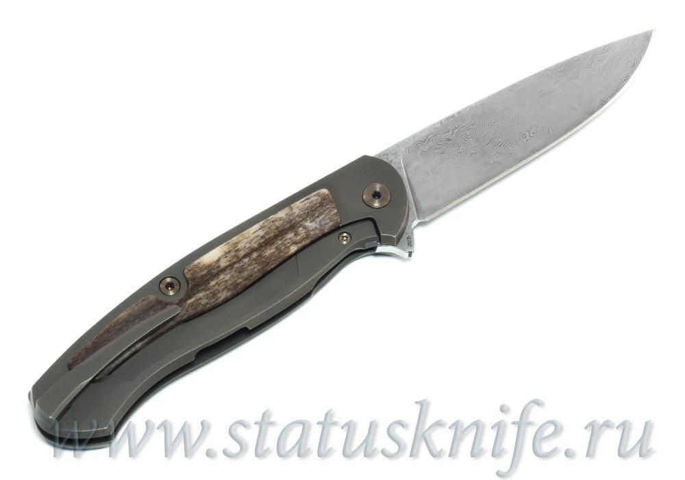 Нож Чебуркова Скаут Custom дамаск и кость жирафа - фотография