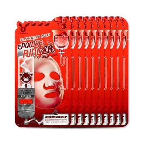 Омолаживающая Тканевая маска Elizavecca Collagen Deep Power Ringer Mask Pack