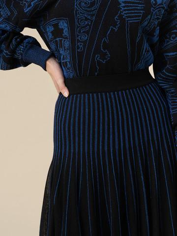 Женская юбка асимметричного кроя черного цвета из вискозы - фото 5