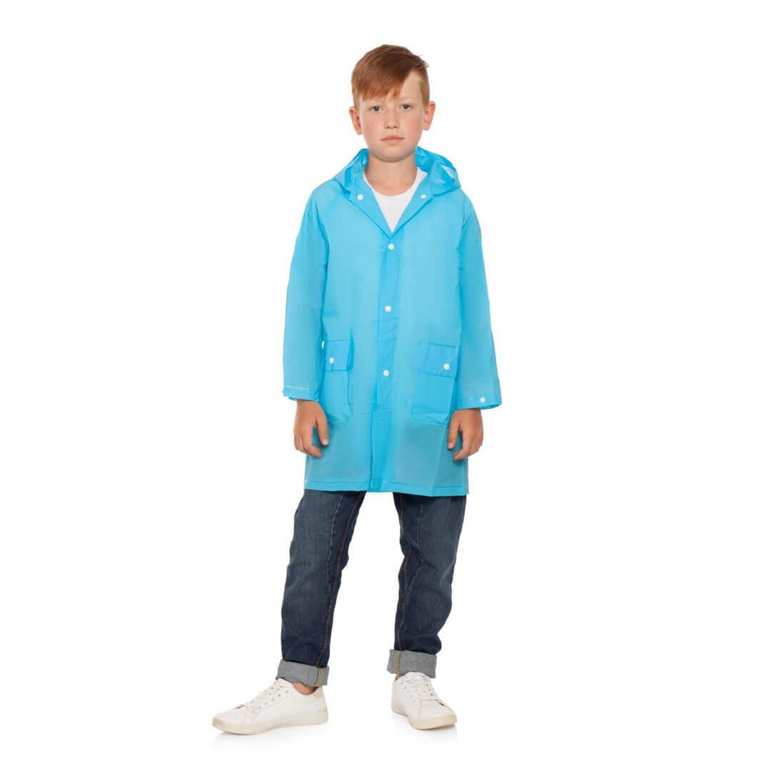 Плащ дождевик голубой детский