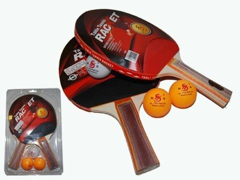 Набор для настольного тенниса  1 звезда. (2ракетки, 3 шарика в слюде) :(1202):