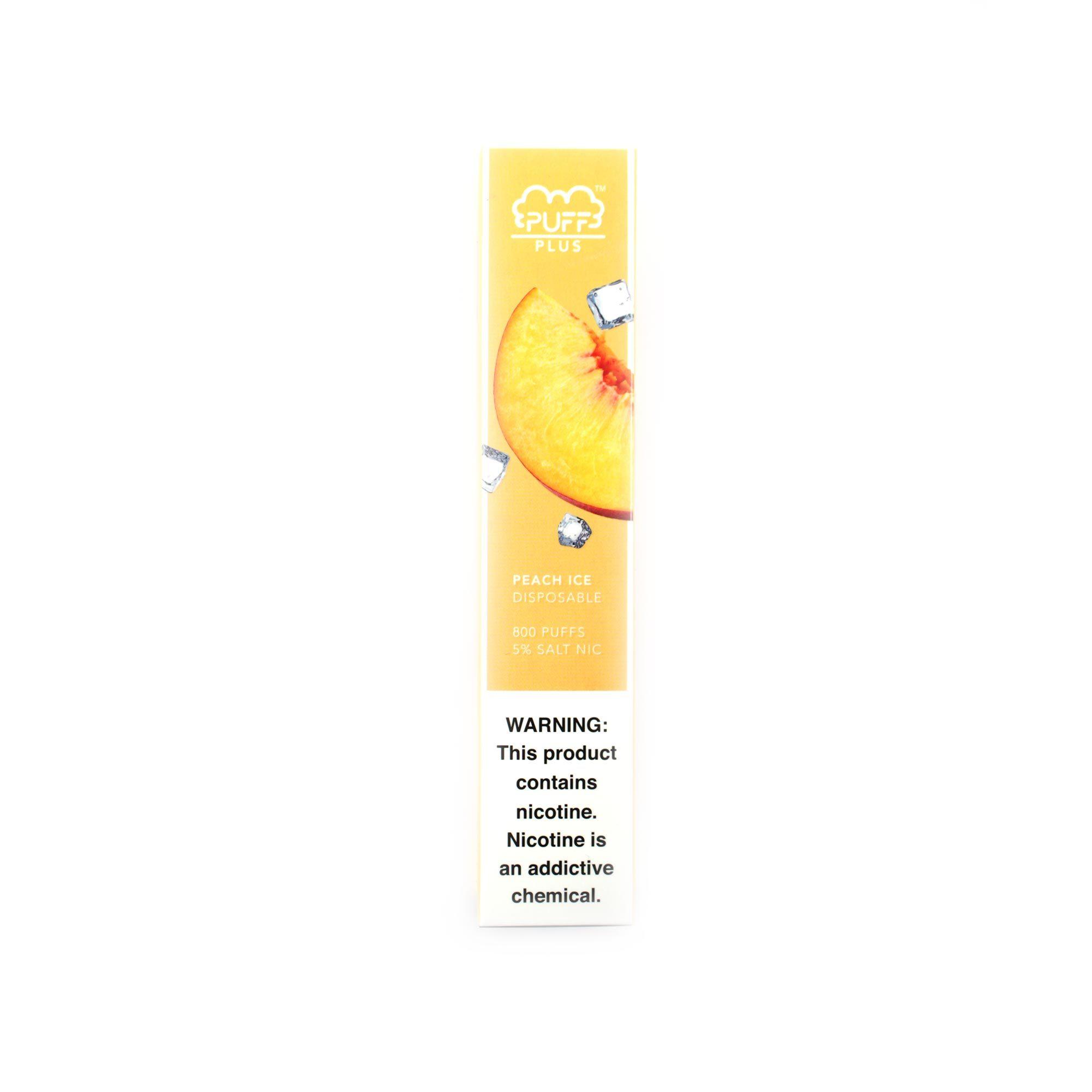 Одноразовая электронная сигарета Puff Plus Peach Ice (Персик)
