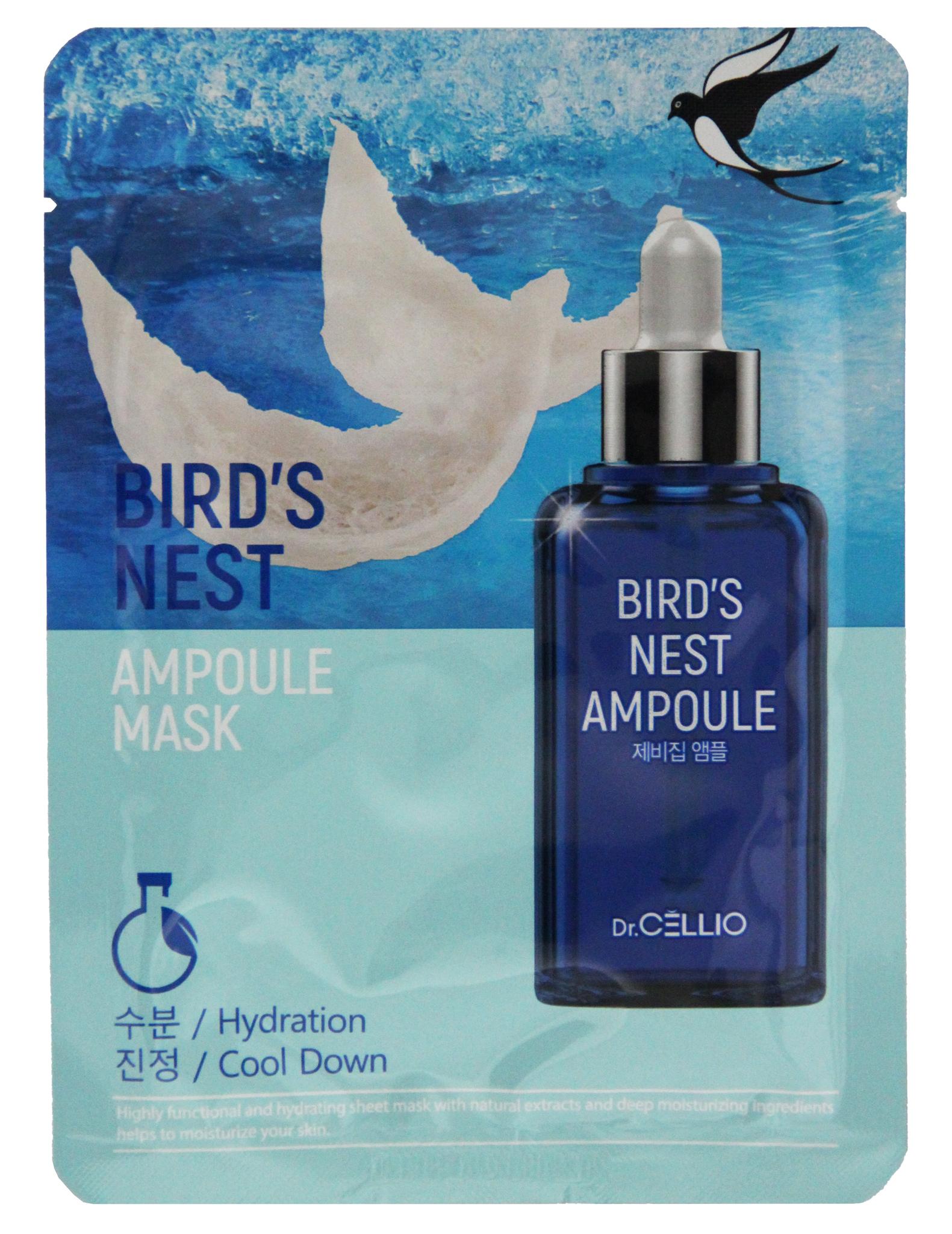 Тканевые Маска тканевая для лица с экстр.ласточкиного гнезда Dr. CELLIO BIRD'S NEST AMPOULE MASK 2a95ecd3cee66c9b.jpeg